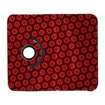 Red Passion Floral Pattern Samsung Galaxy S  III Flip 360 Case Front