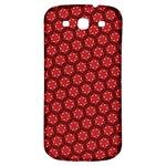 Red Passion Floral Pattern Samsung Galaxy S3 S III Classic Hardshell Back Case Front