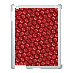Red Passion Floral Pattern Apple Ipad 3/4 Case (white)