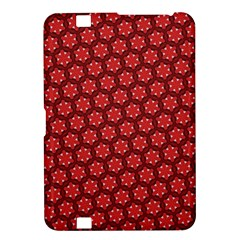 Red Passion Floral Pattern Kindle Fire Hd 8 9