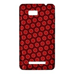 Red Passion Floral Pattern HTC One SU T528W Hardshell Case