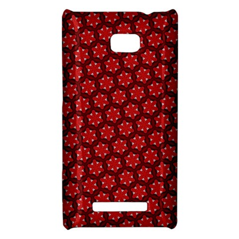 Red Passion Floral Pattern HTC 8X