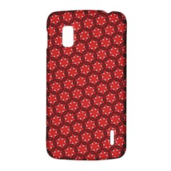 Red Passion Floral Pattern LG Nexus 4
