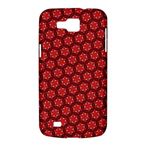 Red Passion Floral Pattern Samsung Galaxy Premier I9260 Hardshell Case