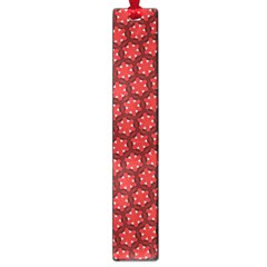 Red Passion Floral Pattern Large Book Marks