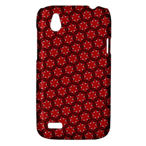 Red Passion Floral Pattern HTC Desire V (T328W) Hardshell Case