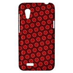 Red Passion Floral Pattern HTC Desire VT (T328T) Hardshell Case