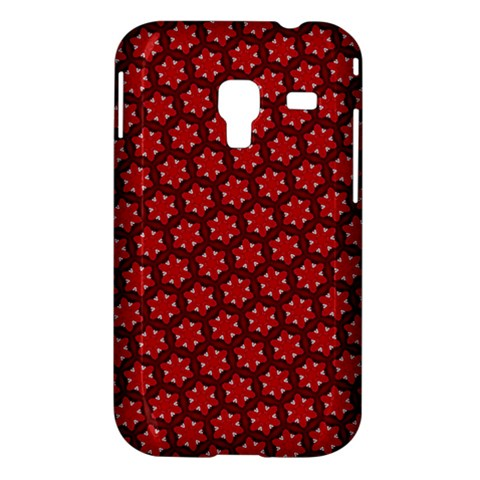 Red Passion Floral Pattern Samsung Galaxy Ace Plus S7500 Hardshell Case