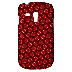 Red Passion Floral Pattern Samsung Galaxy S3 Mini I8190 Hardshell Case