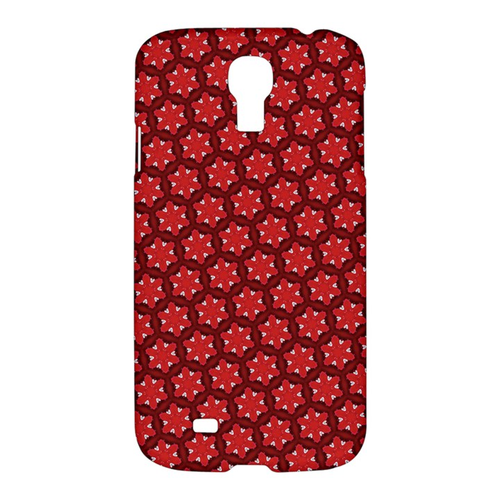Red Passion Floral Pattern Samsung Galaxy S4 I9500/I9505 Hardshell Case
