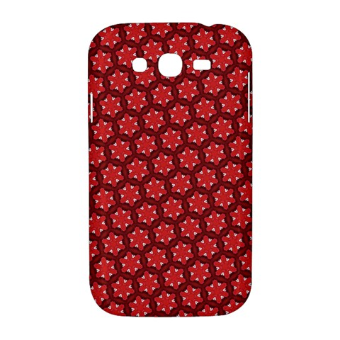 Red Passion Floral Pattern Samsung Galaxy Grand DUOS I9082 Hardshell Case