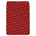 Red Passion Floral Pattern Flap Covers (L)  Front