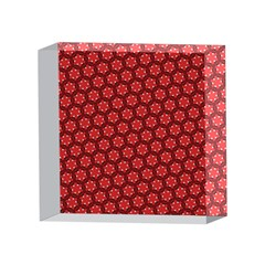 Red Passion Floral Pattern 4 x 4  Acrylic Photo Blocks