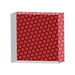 Red Passion Floral Pattern 4 x 4  Acrylic Photo Blocks Front