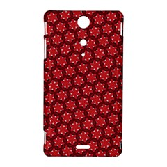 Red Passion Floral Pattern Sony Xperia TX