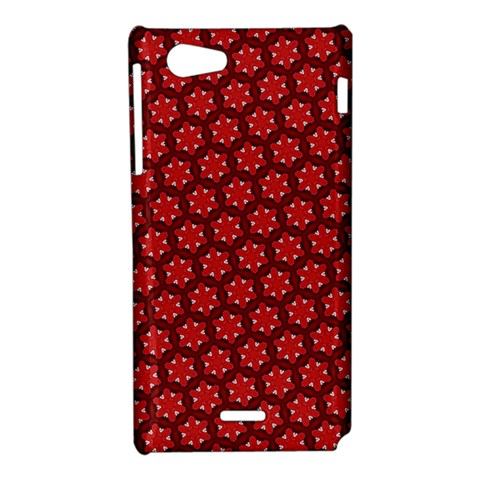 Red Passion Floral Pattern Sony Xperia J