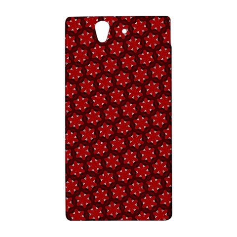 Red Passion Floral Pattern Sony Xperia Z