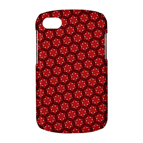 Red Passion Floral Pattern BlackBerry Q10