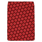Red Passion Floral Pattern Flap Covers (S)  Front