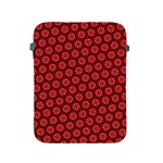 Red Passion Floral Pattern Apple iPad 2/3/4 Protective Soft Cases Front