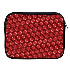 Red Passion Floral Pattern Apple iPad 2/3/4 Zipper Cases
