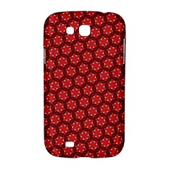 Red Passion Floral Pattern Samsung Galaxy Grand GT-I9128 Hardshell Case