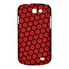 Red Passion Floral Pattern Samsung Galaxy Express I8730 Hardshell Case