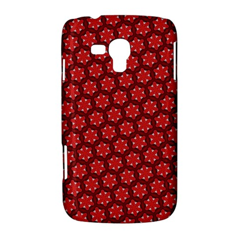 Red Passion Floral Pattern Samsung Galaxy Duos I8262 Hardshell Case