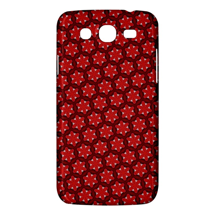 Red Passion Floral Pattern Samsung Galaxy Mega 5.8 I9152 Hardshell Case