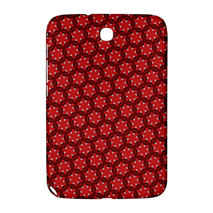 Red Passion Floral Pattern Samsung Galaxy Note 8.0 N5100 Hardshell Case