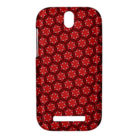 Red Passion Floral Pattern HTC One SV Hardshell Case