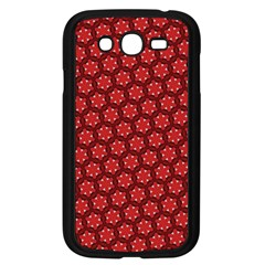 Red Passion Floral Pattern Samsung Galaxy Grand DUOS I9082 Case (Black)