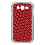 Red Passion Floral Pattern Samsung Galaxy Grand DUOS I9082 Case (White) Front