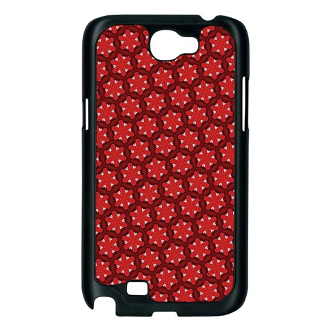 Red Passion Floral Pattern Samsung Galaxy Note 2 Case (Black)