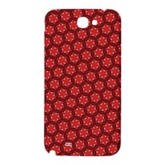 Red Passion Floral Pattern Samsung Note 2 N7100 Hardshell Back Case
