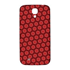 Red Passion Floral Pattern Samsung Galaxy S4 I9500/i9505  Hardshell Back Case