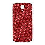 Red Passion Floral Pattern Samsung Galaxy S4 I9500/I9505  Hardshell Back Case Front