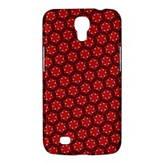 Red Passion Floral Pattern Samsung Galaxy Mega 6 3  I9200 Hardshell Case