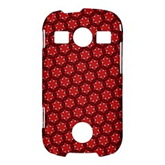 Red Passion Floral Pattern Samsung Galaxy S7710 Xcover 2 Hardshell Case