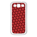 Red Passion Floral Pattern Samsung Galaxy S3 Back Case (White) Front