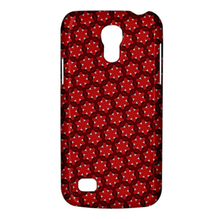 Red Passion Floral Pattern Galaxy S4 Mini
