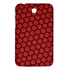 Red Passion Floral Pattern Samsung Galaxy Tab 3 (7 ) P3200 Hardshell Case
