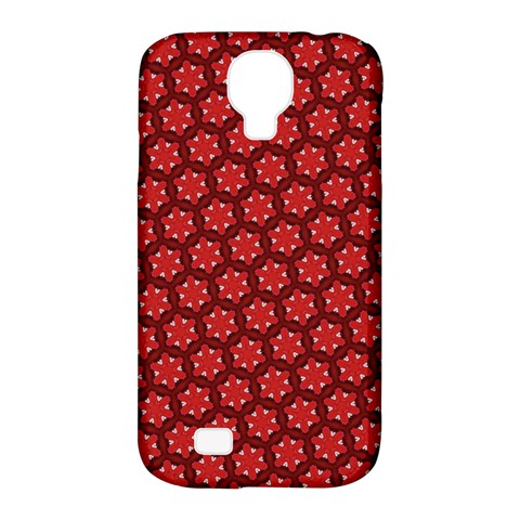 Red Passion Floral Pattern Samsung Galaxy S4 Classic Hardshell Case (PC+Silicone)