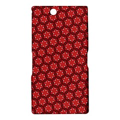 Red Passion Floral Pattern Sony Xperia Z Ultra