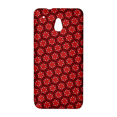 Red Passion Floral Pattern HTC One Mini (601e) M4 Hardshell Case