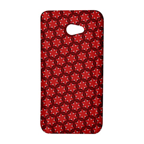 Red Passion Floral Pattern HTC Butterfly S/HTC 9060 Hardshell Case