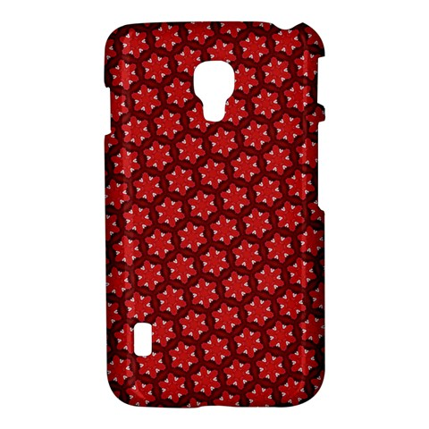 Red Passion Floral Pattern LG Optimus L7 II