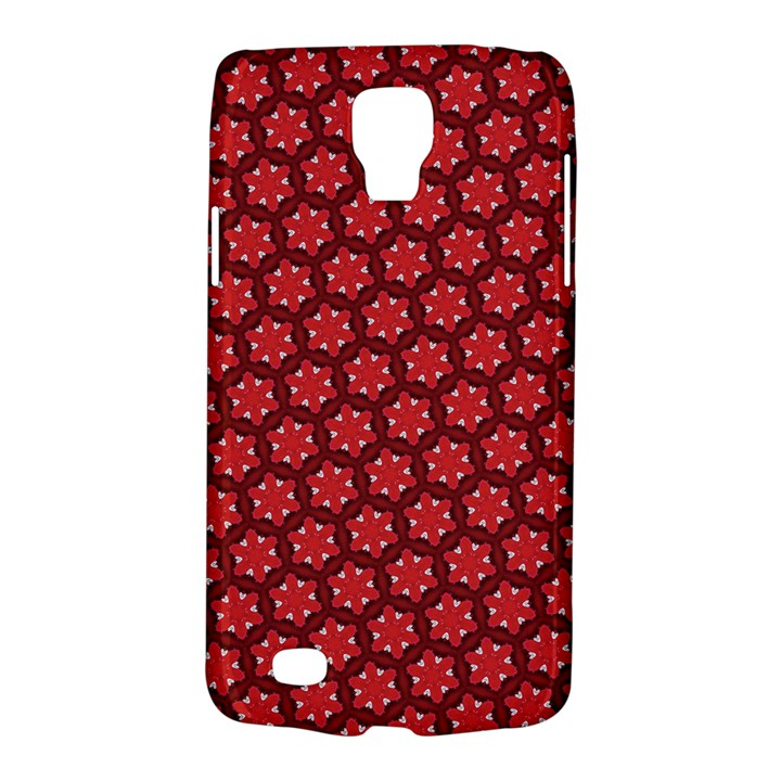 Red Passion Floral Pattern Galaxy S4 Active