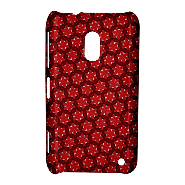 Red Passion Floral Pattern Nokia Lumia 620