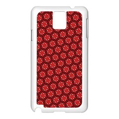 Red Passion Floral Pattern Samsung Galaxy Note 3 N9005 Case (White)